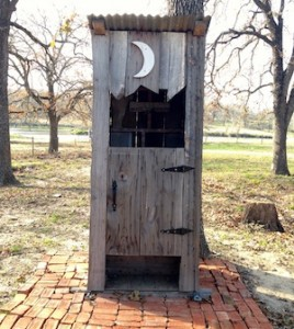 Like the cutest outhouse ever!